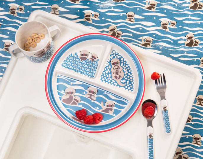 Baby Otter Silverware Set