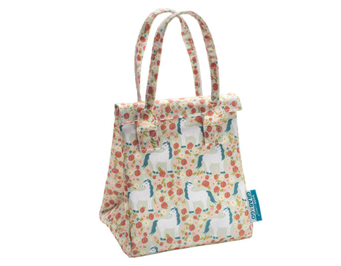 Unicorn and Flowers Lunch Tote
