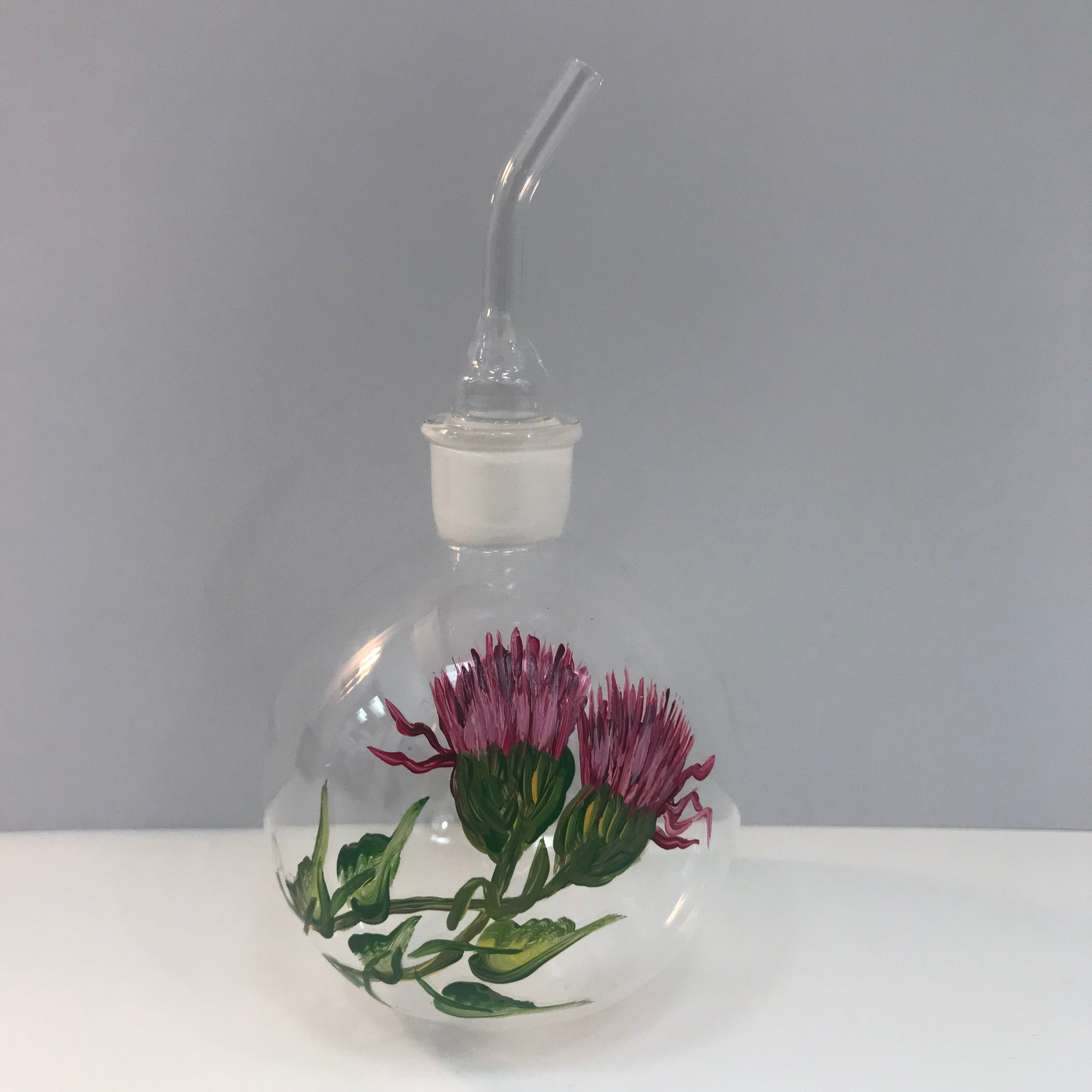 Purple Flower Plant Water Pourer
