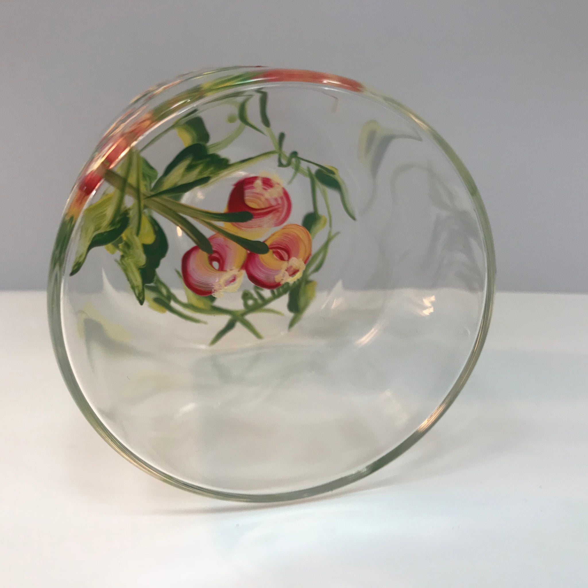 Berry Clear Glass G Vase