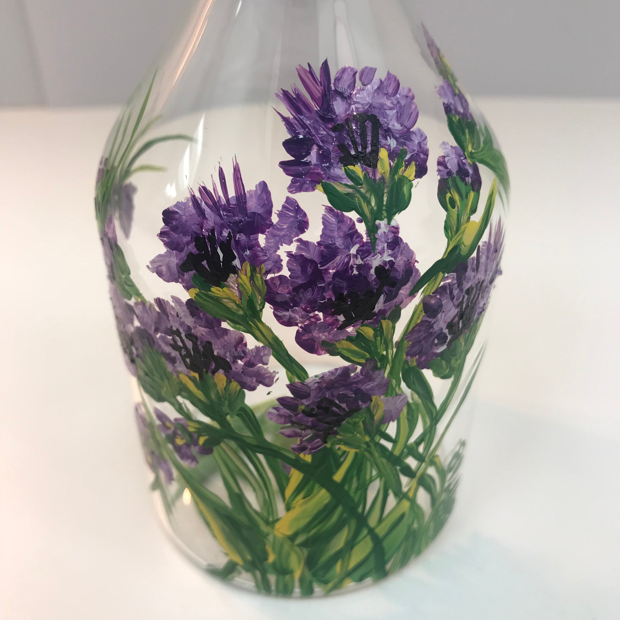 Purple Flower Clear Glass C