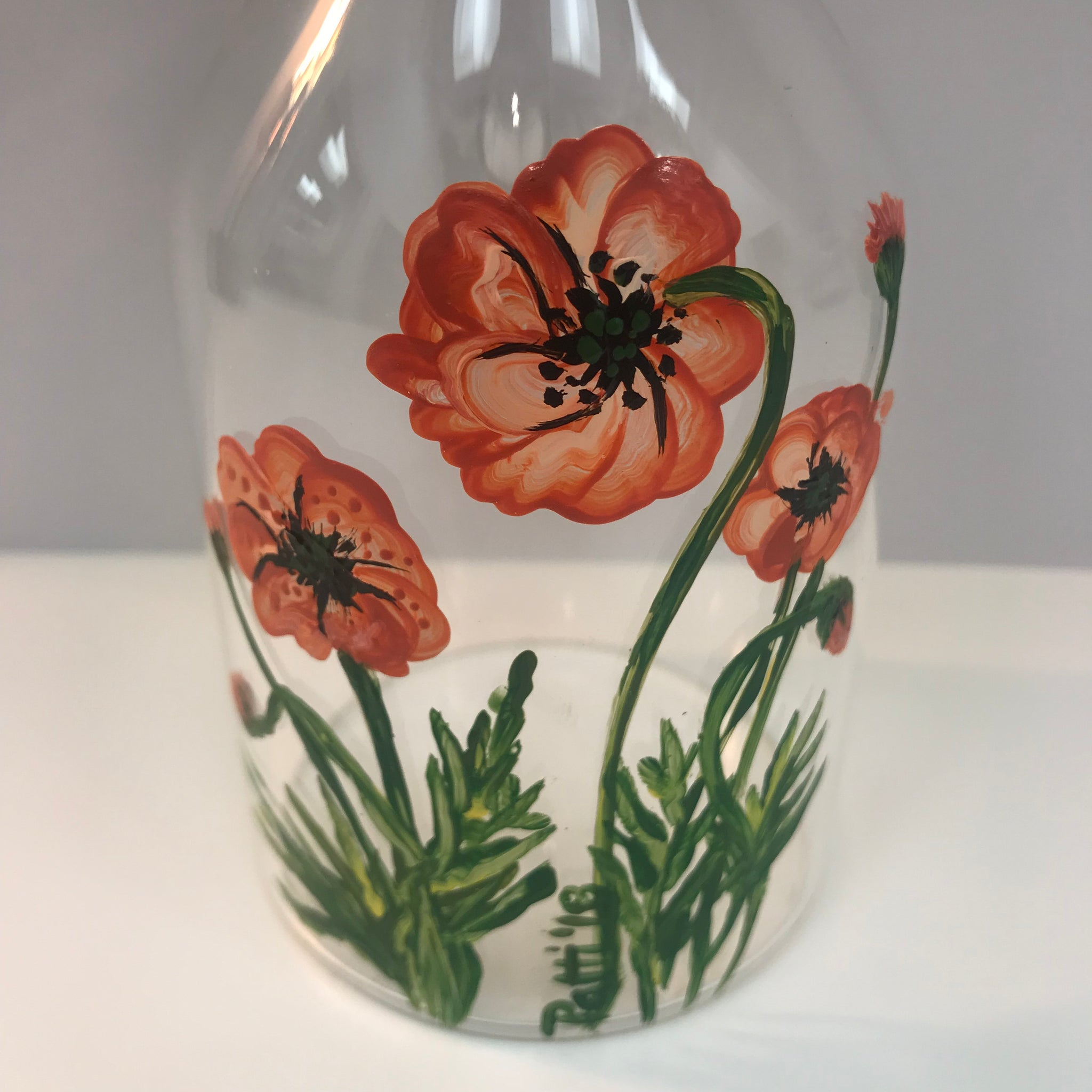 Poppy Clear Glass C Vase