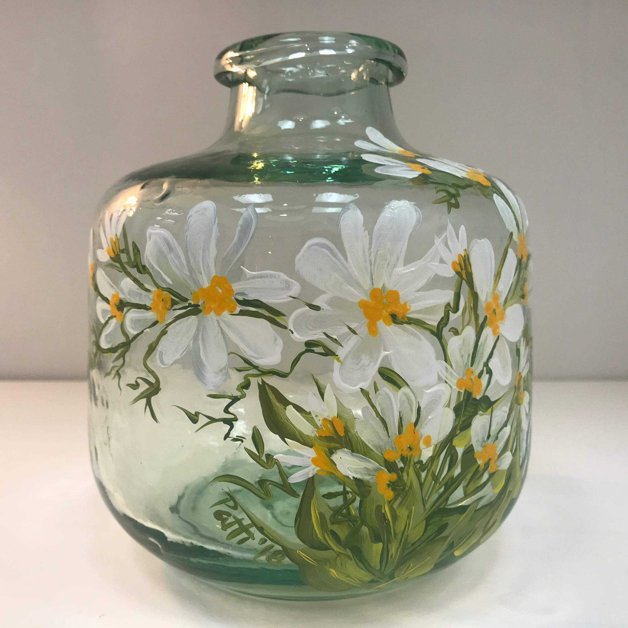 Daisy Thick Recycled Glass Vase