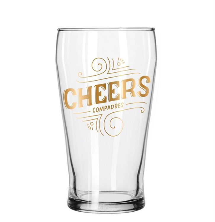 Cheers Compadres Drinking Glass