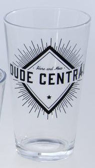 Dude Central Drinking Glass