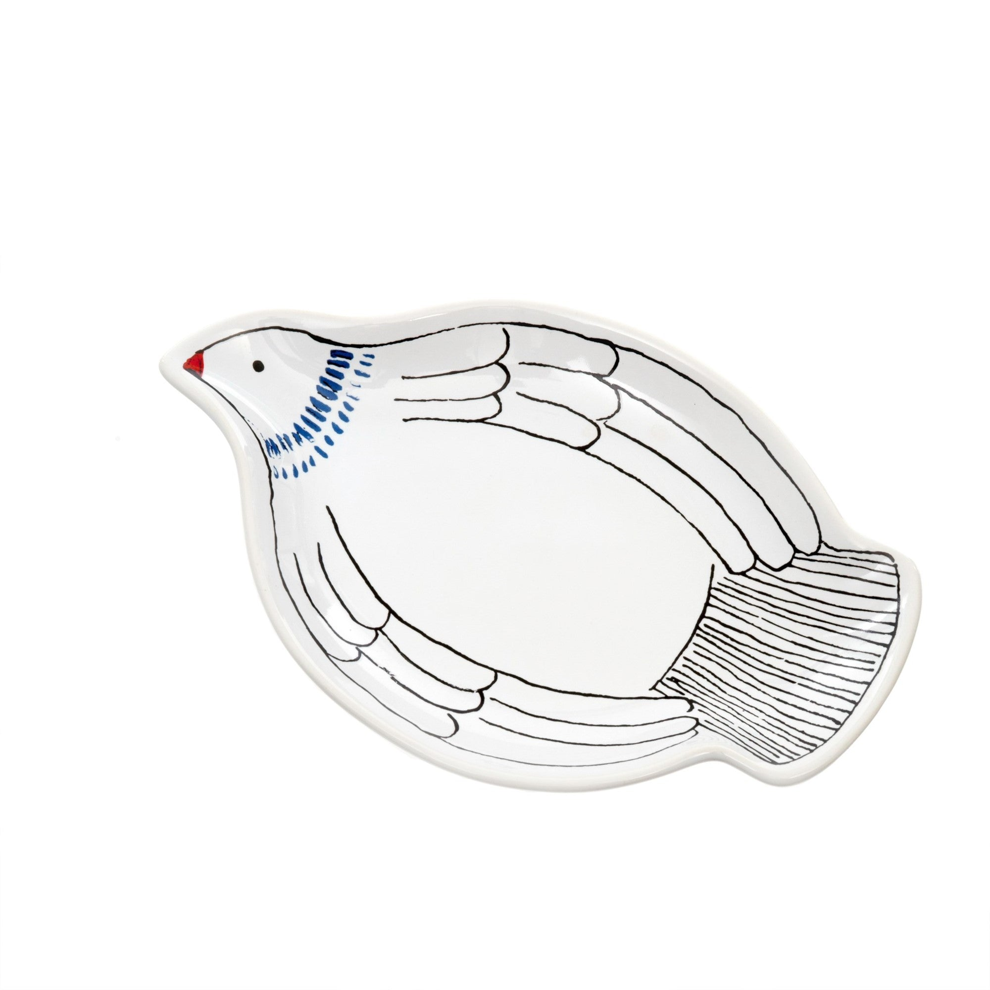 White Watercolor Dove Dish