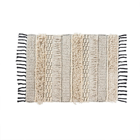 Textured Ivory Bath Mat
