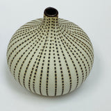 White and Brown Mini Textured Bottle Vase