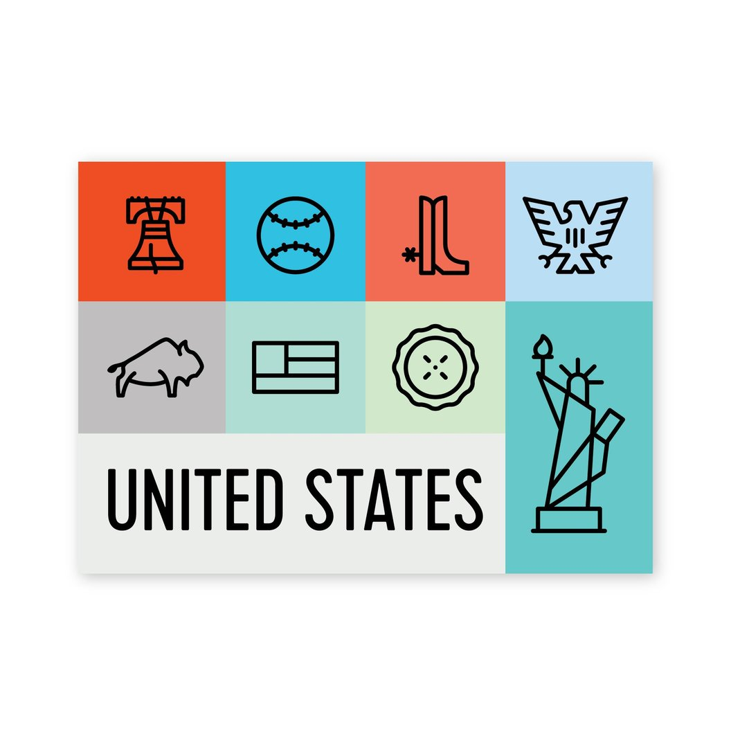 USA Icons Postcard