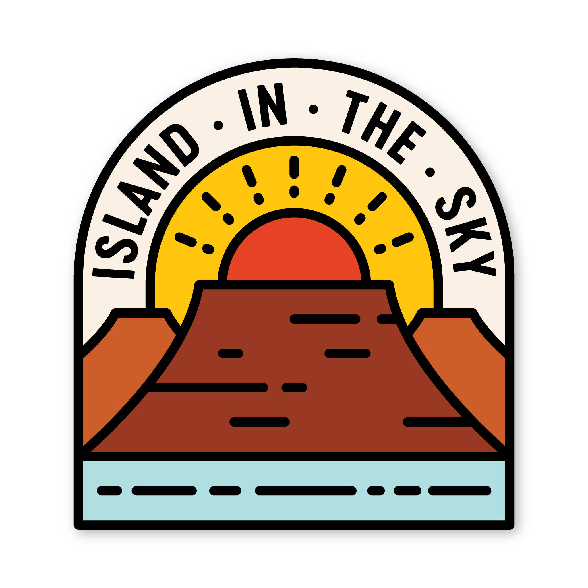 Island in the Sky Sticker
