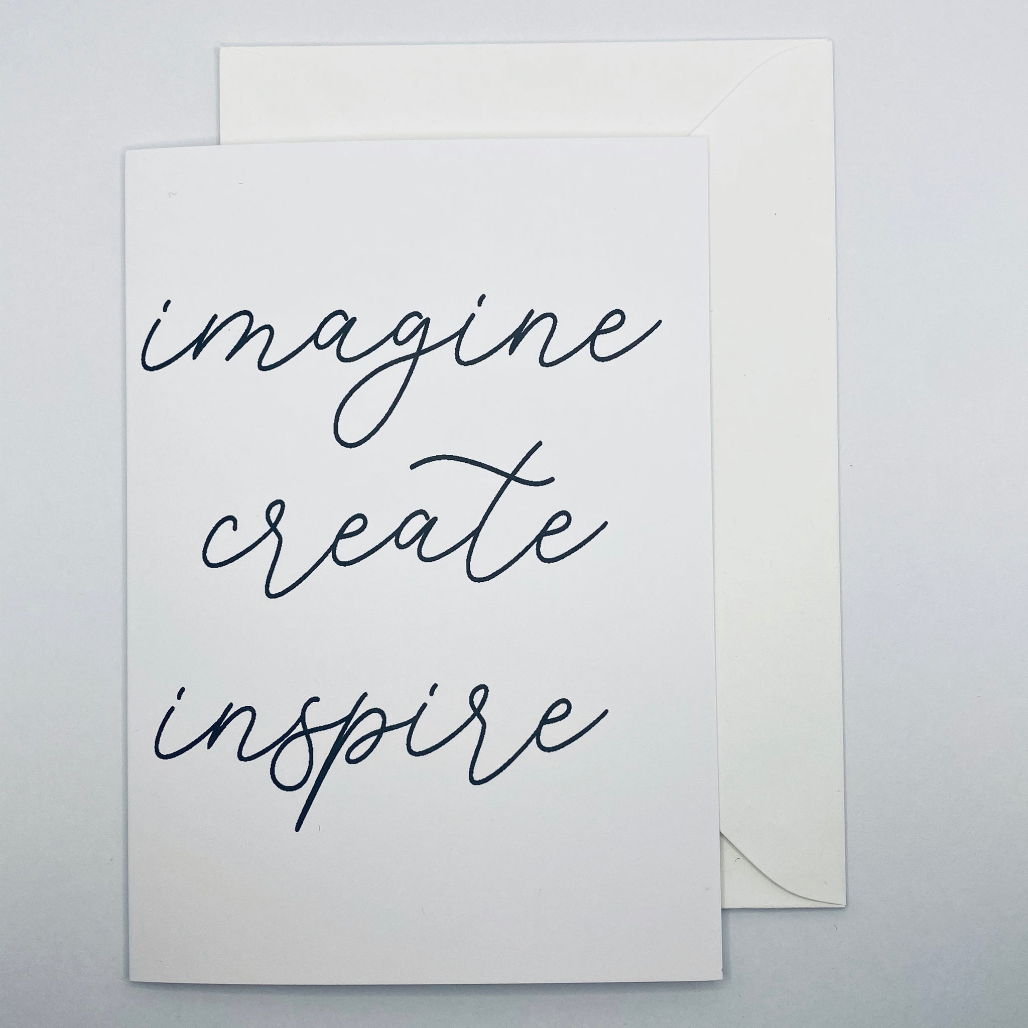 Imagine Create Inspire Greeting Card