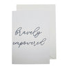 Bravely Empowered Greeting Card