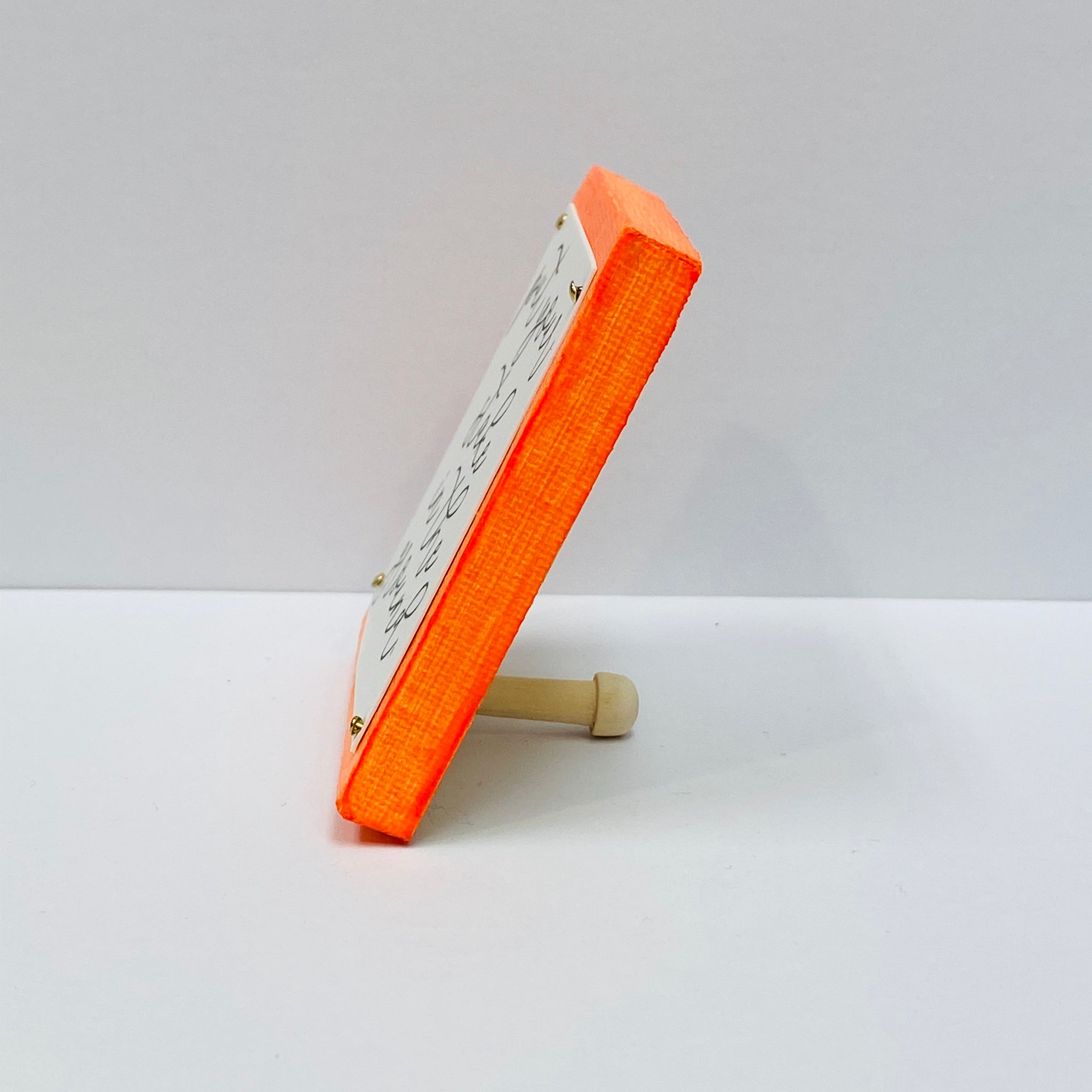 Stake in the Ground Neon Orange Mini Inspirational Sign