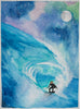 Surfer Original Watercolor Art