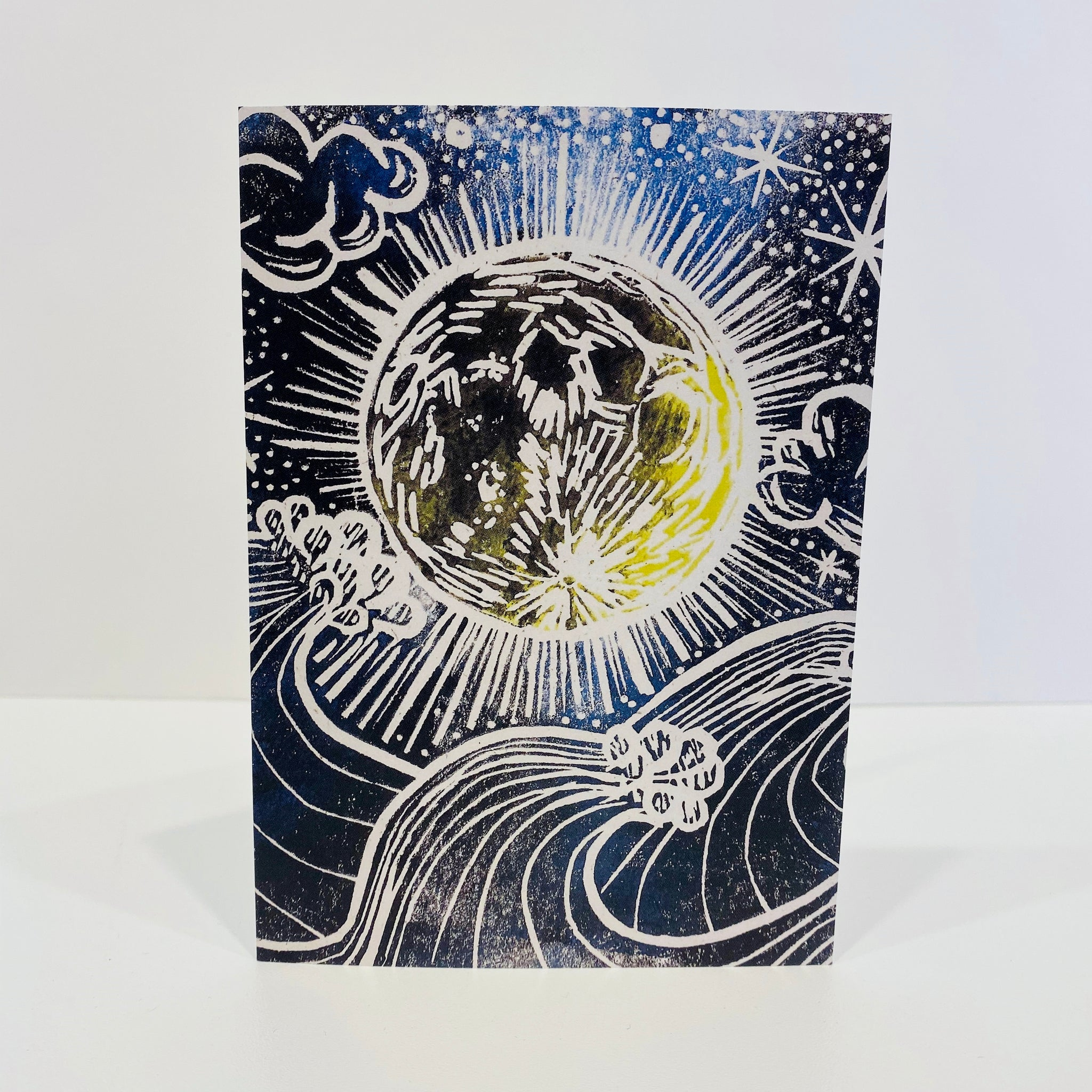 Moon and Sea Greeting Card