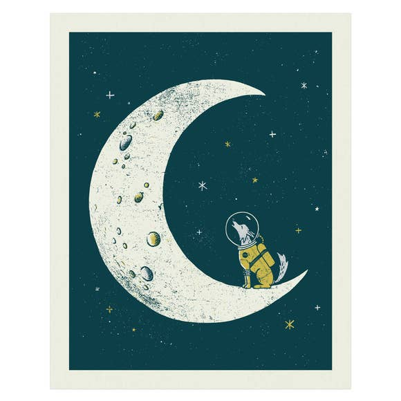 Howl at the Moon Screen Print