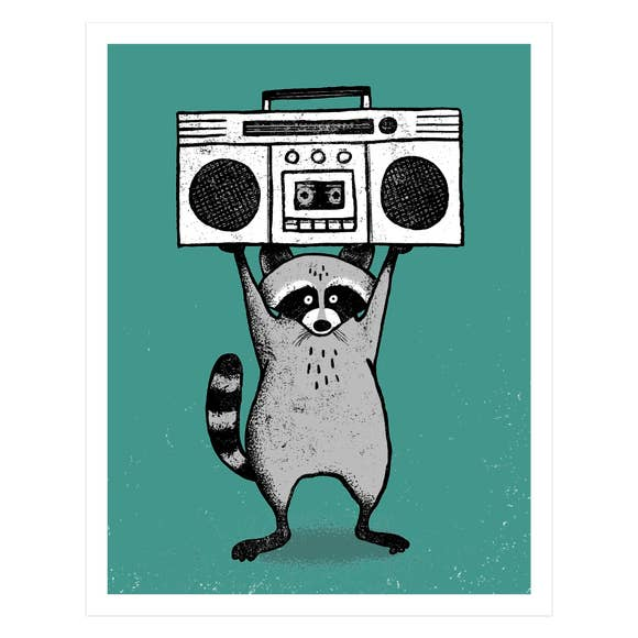 Raccoon Screen Print