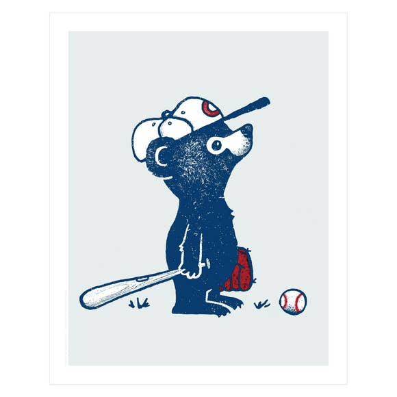 Baseball Bear Screen Print