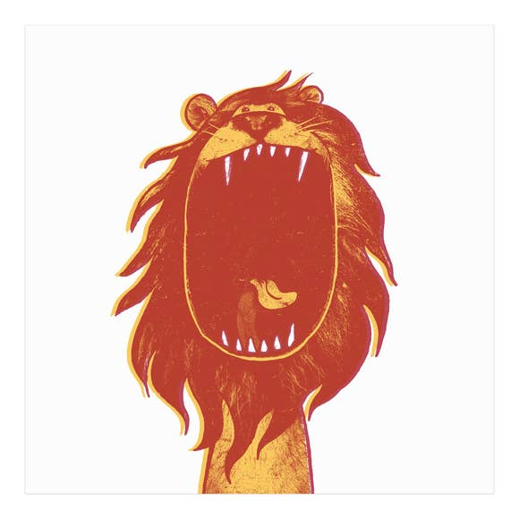 Lion Screen Print