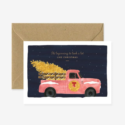 Christmas Truck Greeting Card