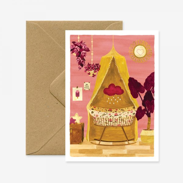 Girl Bedroom Greeting Card