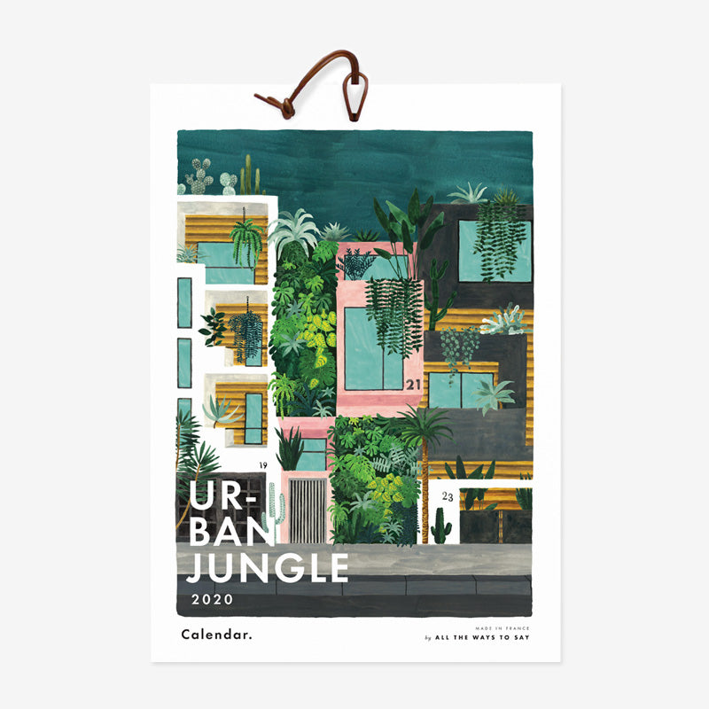 Urban Jungle 2020 Calendar