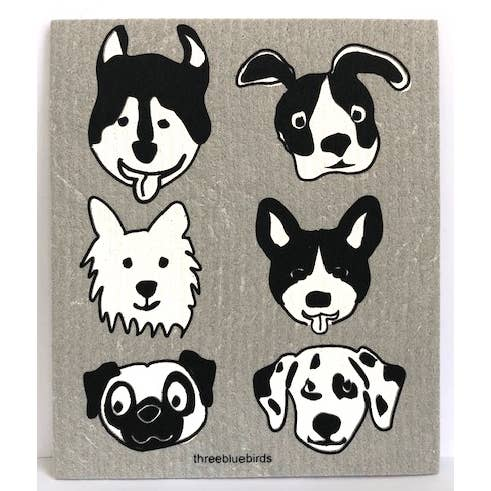 Doggies Swedish Dishcloth