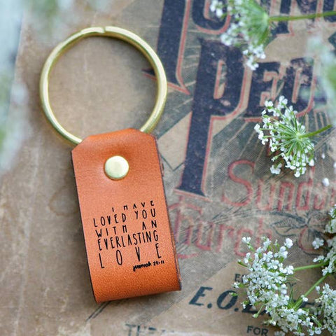 Everlasting Love Inspirational Leather Keychain