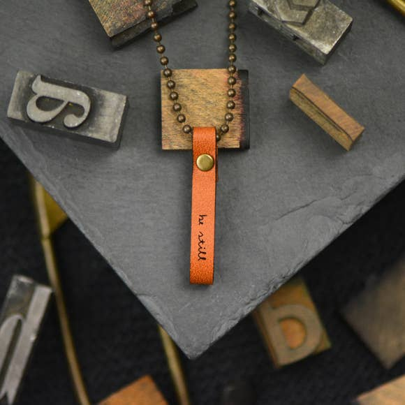 Be Still Inspirational Leather Necklace
