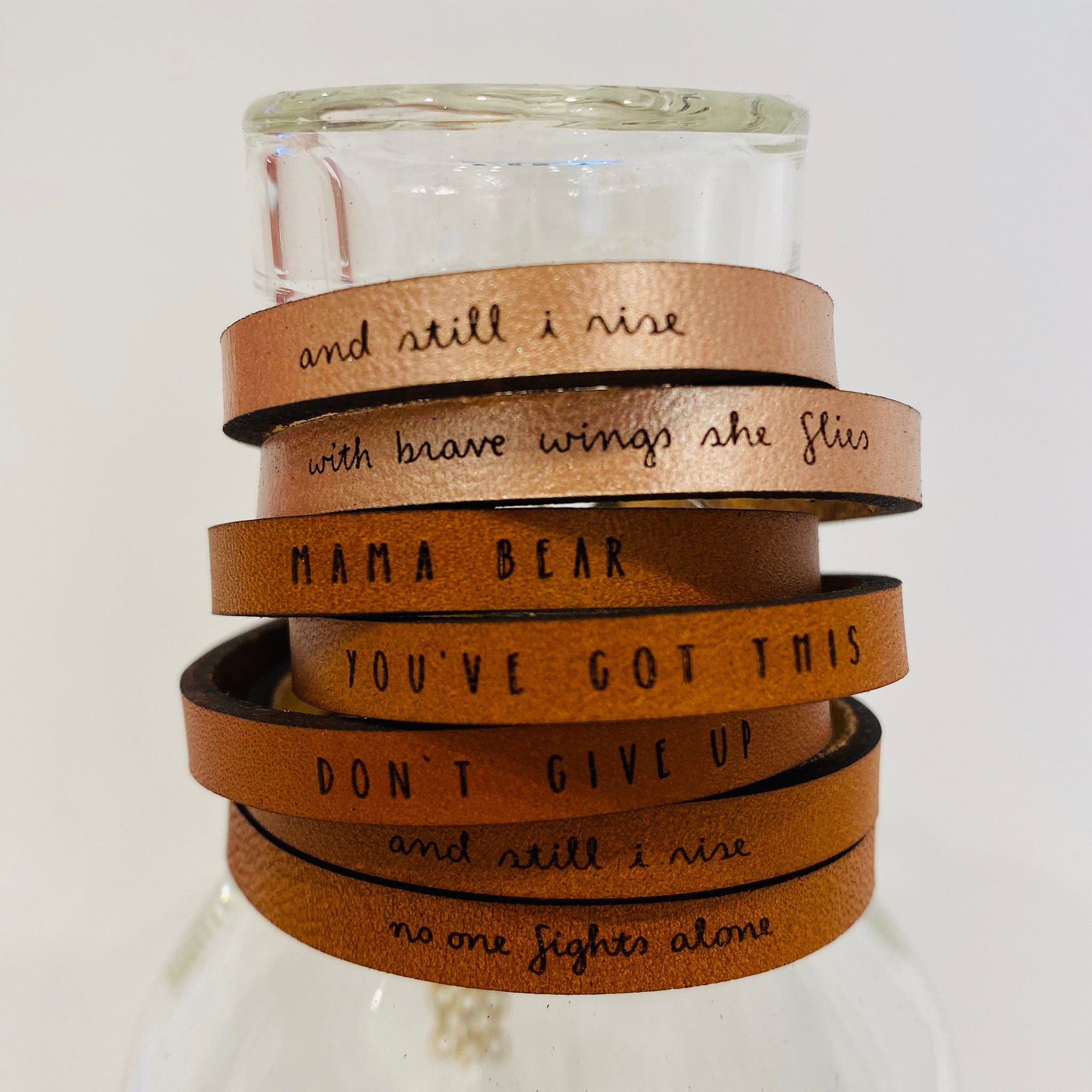You've Got This Inspirational Leather Bracelet