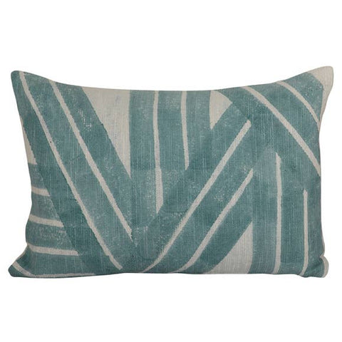 Aqua Stripes Rectangular Pillow