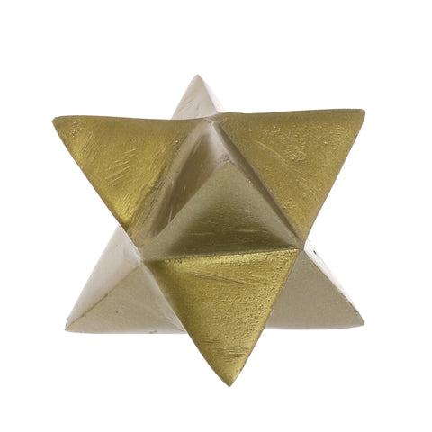 8-Point Star Brass Metal Object Home Decor