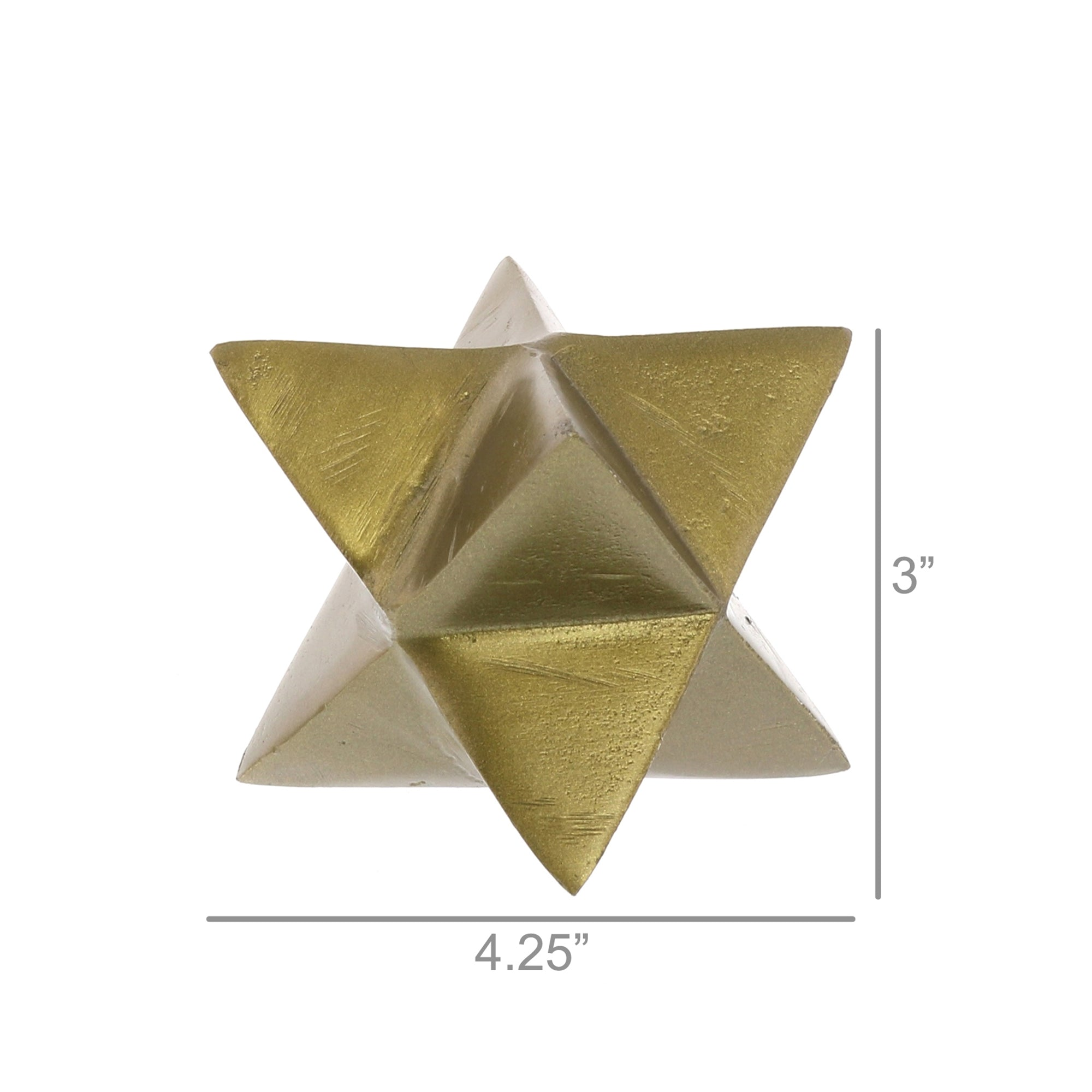 8-Point Star Brass Metal Object