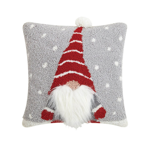 Christmas Gnome Hook Accent Pillow