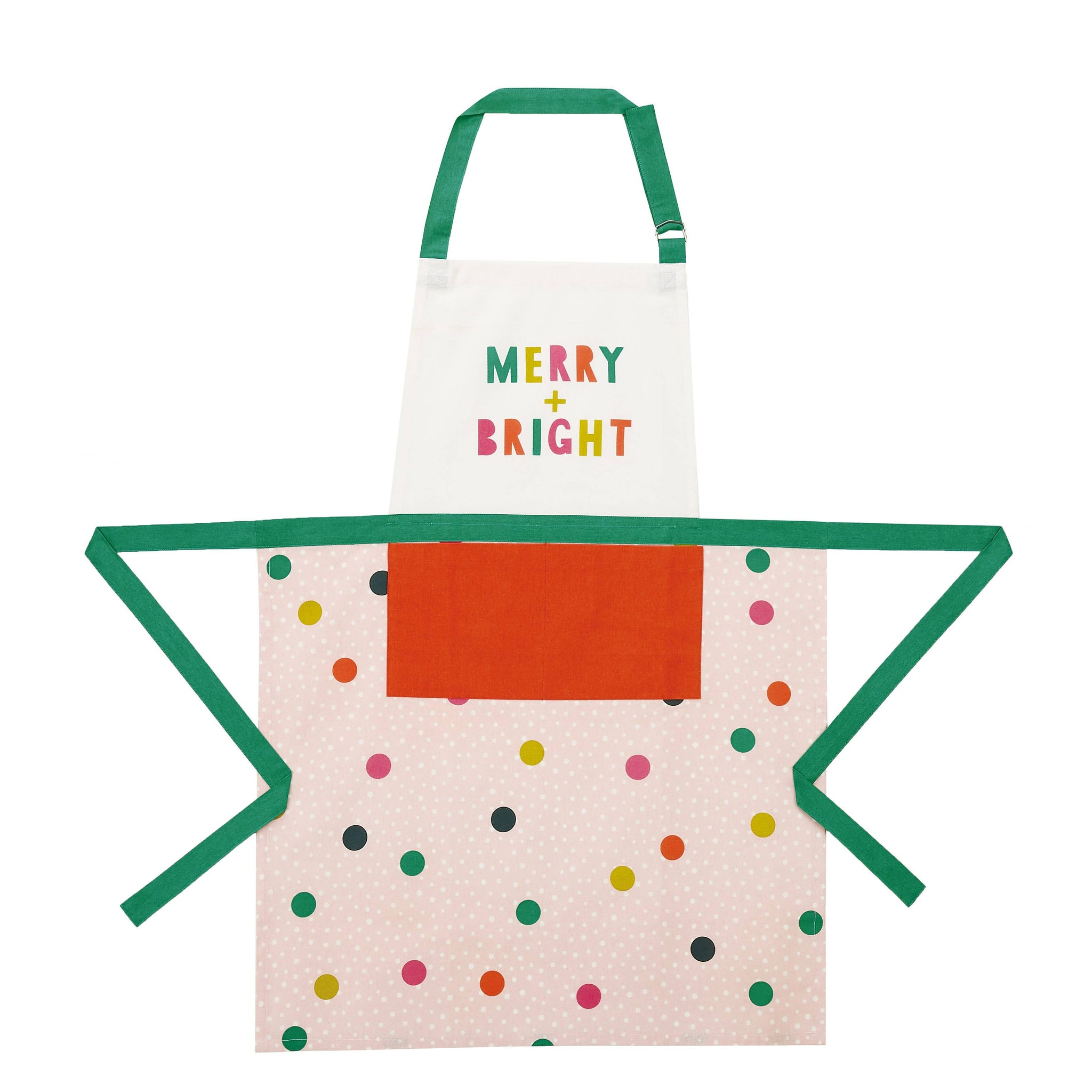 Merry and Bright Modern Christmas Kitchen Apron