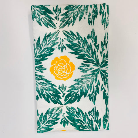 Marigold Flower Tea Towel