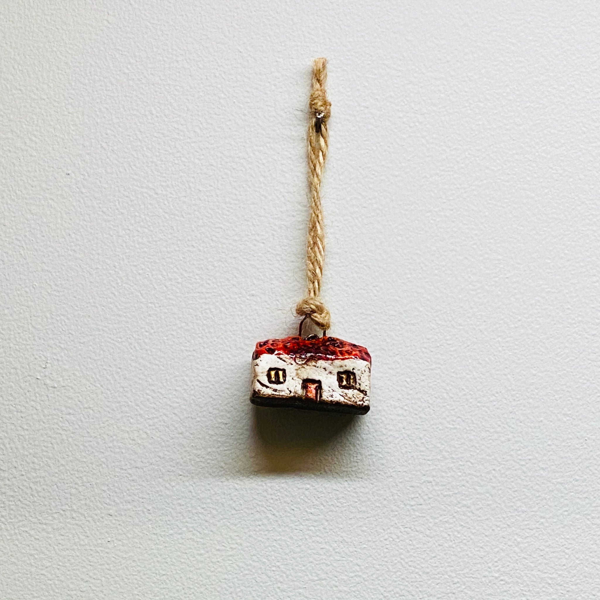 Mr & Mrs Red House Ornament
