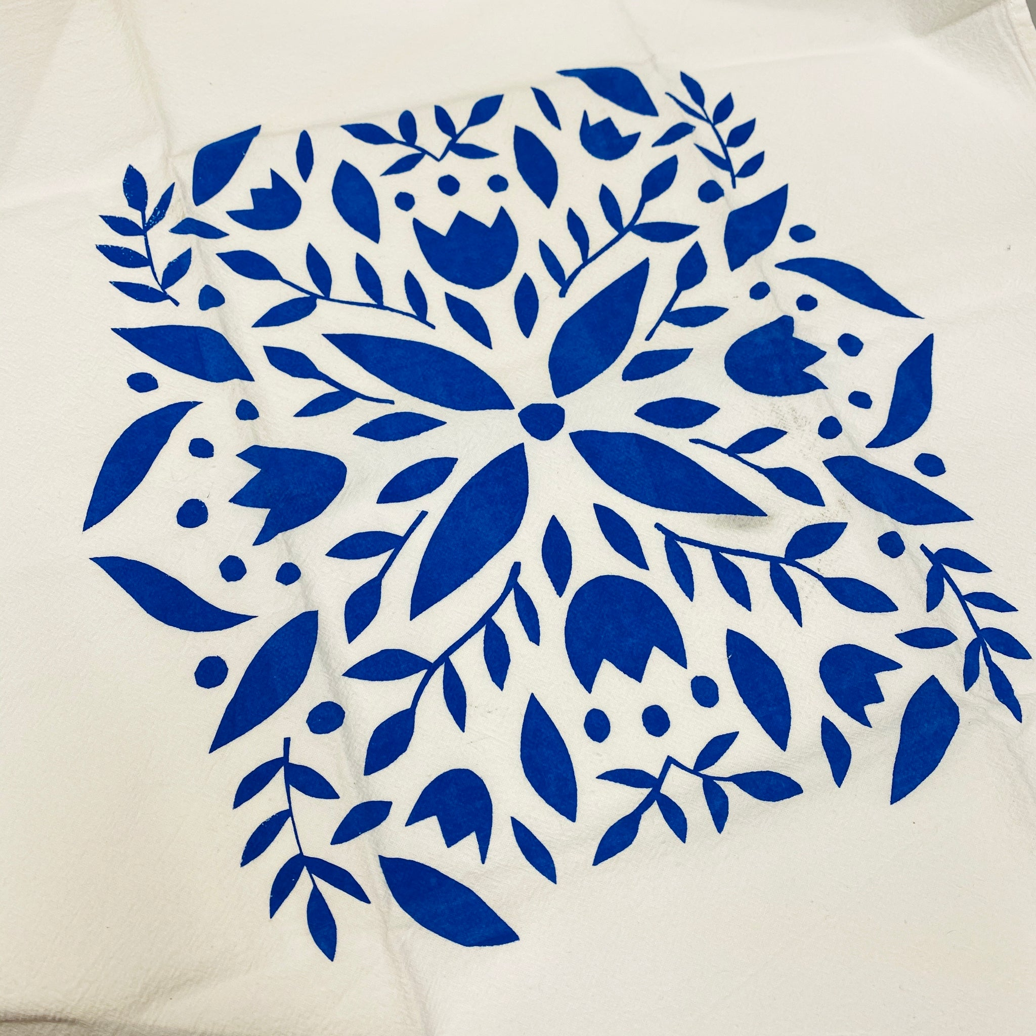 Blue Floral Mini Towel