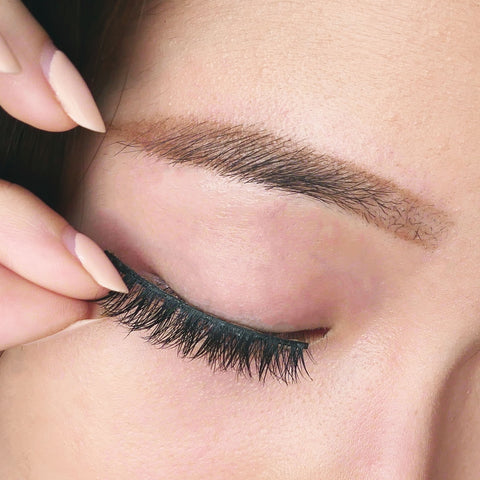 3ef5d2a08e7 You will need to trim your false eyelashes for a custom fit. You first need  to measure the false lashes against your natural lashes.