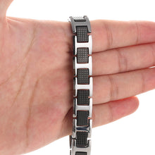 Hottime Men Fashion Jewelry Black Health Magnetic Therapy Radiation Fatigue Bracelets Tungsten Men Bracelets Bangles pulsera 10022