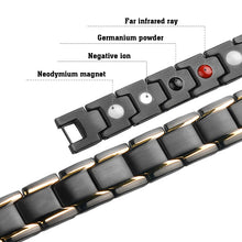 Hottime Men Women Healthy Magnetic Bracelet Titanium Steel Power Therapy Magnets Bangles Links