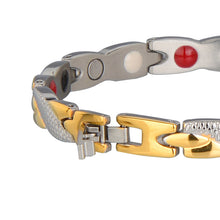 Hottime Health Magnetic Care Energy Bracelet Link Stainless Steel Ion Germanium Bracelet & Bangle Link To Extended Length