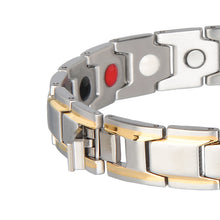 Hottime Healing Magnetic Bracelet Men/Woman 316L Stainless Steel Health Energy Elements Magnetic FIR Germanium Bracelets Bangles For Lovers