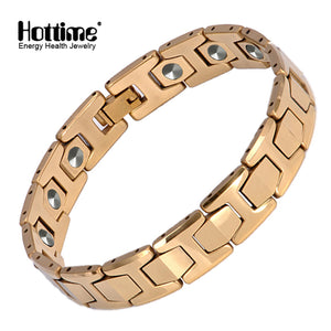 Hottime 15 PCS 99.9999% Pure Germanium Bracelet Magnetic Tungsten Men Charms Bracelets Bangles 10146