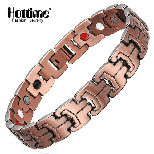 Hottime 99.95% Pure Copper Bracelet  Magnetic Therapy Health Care Jewelry 10211