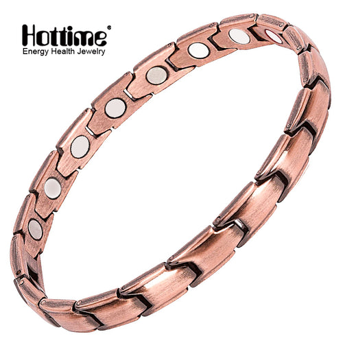 Hottime 2018 Hot Sale Healthy Copper Bio Magnetic Bracelet For Man Energy Magnet bangles Women Men Healing Magnet therapy Jewelry 10221