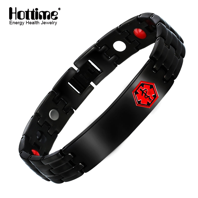 Hottime Healthy magnetic germanium health bracelets & bangles stainless steel health care bracelet men 10244
