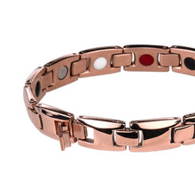 Hottime Women Chain Health Energy Rose Gold Color Magnetic Therapy Germanium Stainless Steel Bracelets Bangles for Lover's 10247