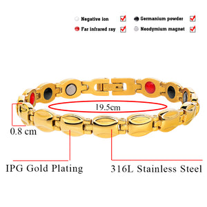 Hottime Twisted Healthy Magnetic Bracelet for Women Power Therapy Magnets Bracelets Bangles for Women Health Jewelry 10263
