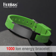 Hottime Silicone Energy Bracelet Balance Ion Magnetic Therapy Health Fashion Silicone Bands Therapy Body Keep Your Healty Healing Pain 20002